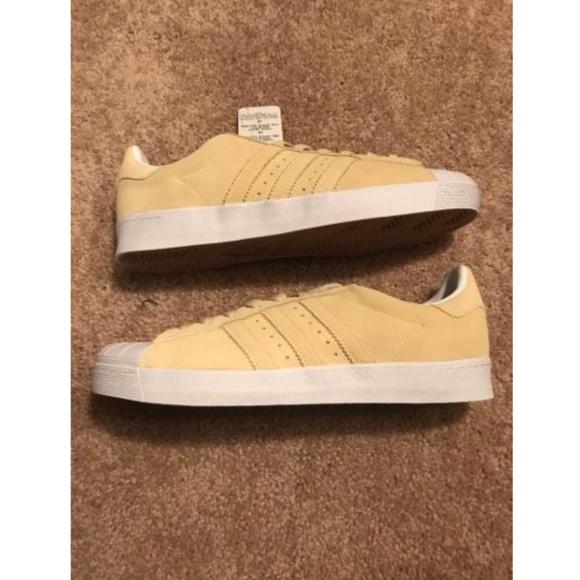 hot sales 297a1 29d0b Adidas Superstar Vulc ADV Shoe Pastel Yellow NWT